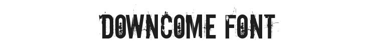 Downcome Font