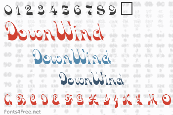 DownWind Font