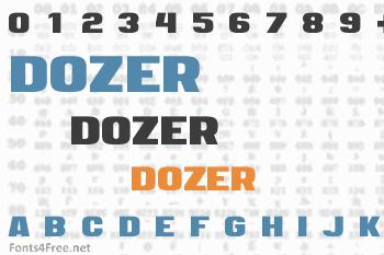 Dozer Font
