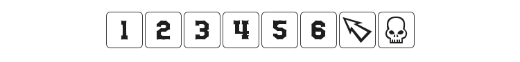 dPoly Block Dice Font Preview