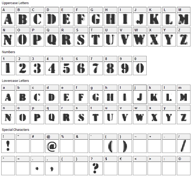 Dr. Enoksen Font Character Map