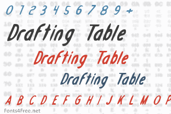Drafting Table Font