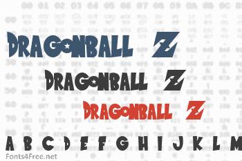 Dragonball z font download (saiyan sans font) fonts4free.