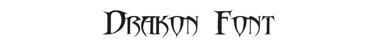 Drakon Font Preview