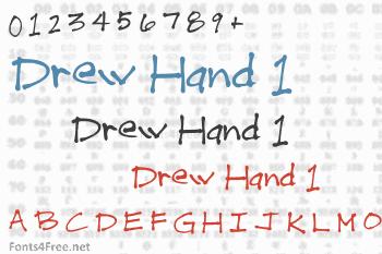 Drew Hand 1 Font