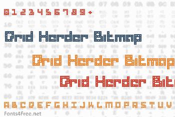 Drid Herder Bitmap Font