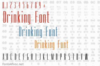 Drinking Font