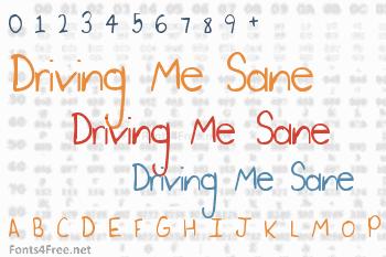 Driving Me Sane Font