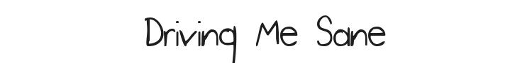 Driving Me Sane Font Preview