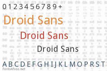 Droid Sans Font
