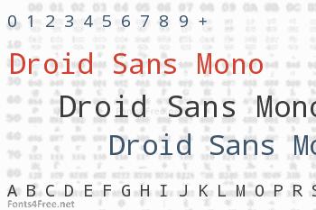 Droid Sans Mono Font
