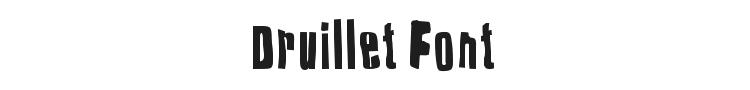 Druillet Font Preview