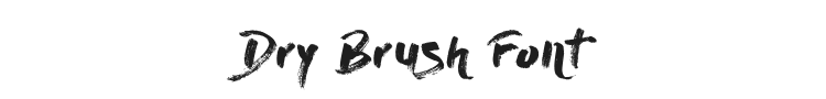 Dry Brush Font Preview