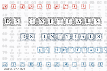 DS Initials Font