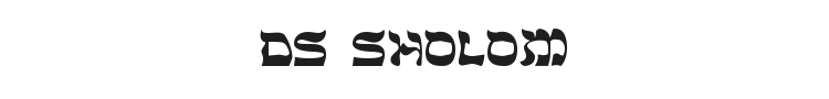 DS Sholom Font Preview