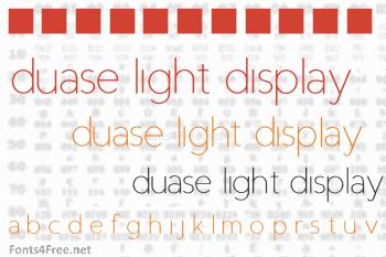 Duase Light Display Font