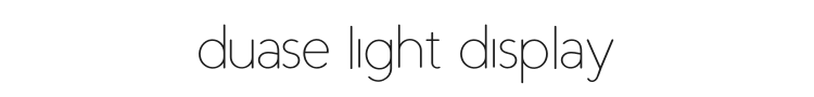 Duase Light Display Font Preview
