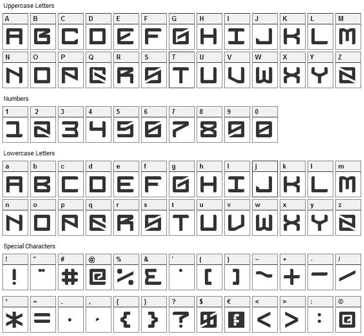 DubbingStar Font Character Map