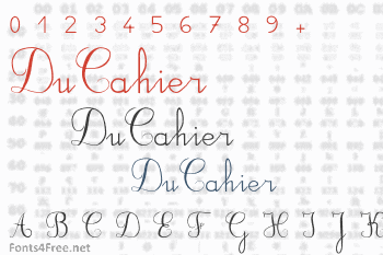 DuCahier Font