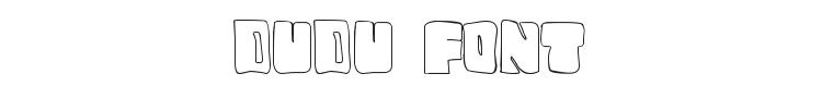 Dudu Font Preview