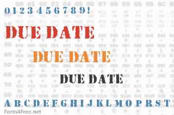 Due Date Font