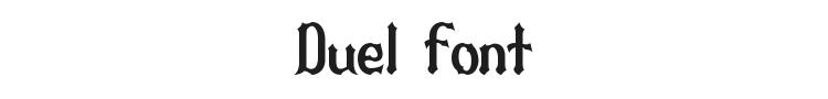 Duel Font