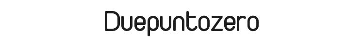 Duepuntozero Font Preview