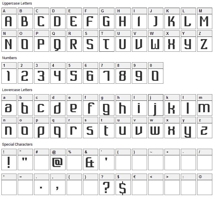 Dukungan Font Character Map