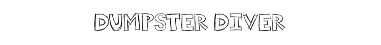 Dumpster Diver Font Preview