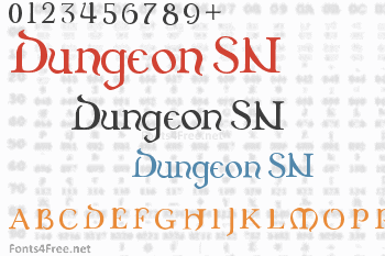 Dungeon SN Font