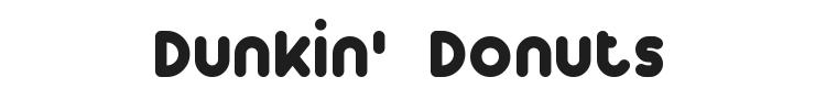 Dunkin Font