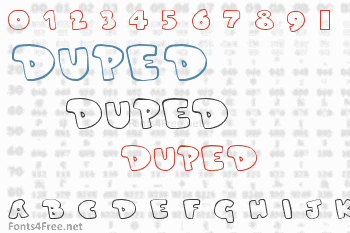 Duped Font
