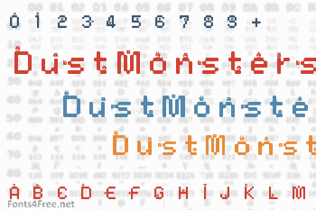 DustMonsters Font