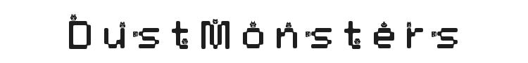 DustMonsters Font