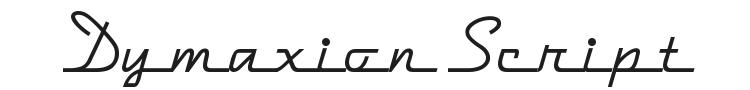 Dymaxion Script Font Preview