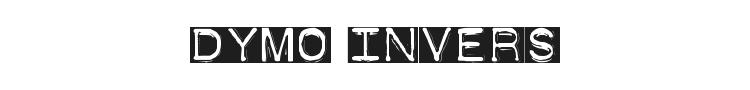 Dymo Font Invers Font