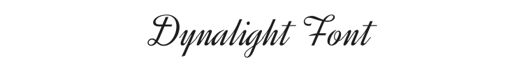 Dynalight Font Preview
