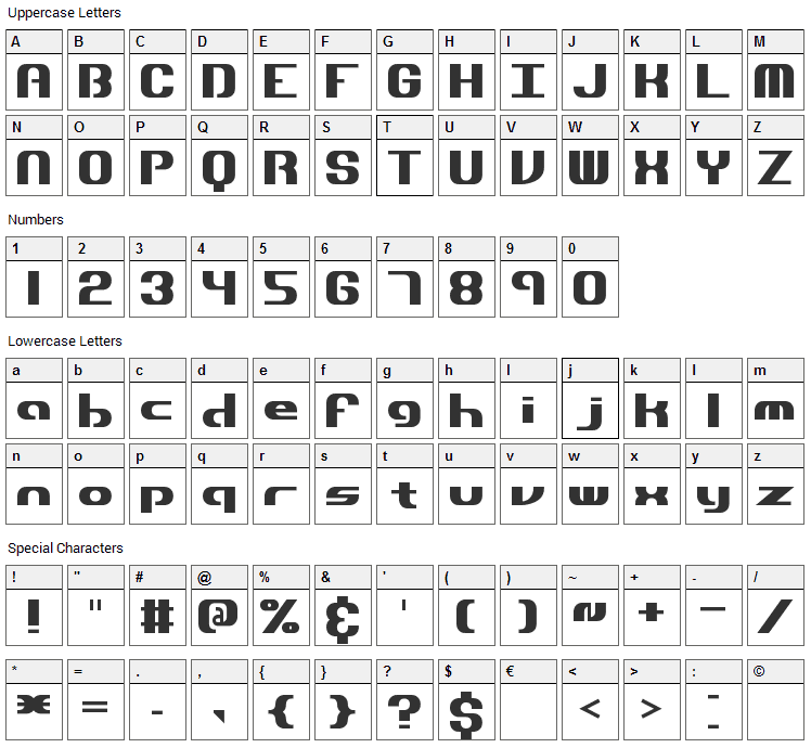 Dynamic Font Character Map