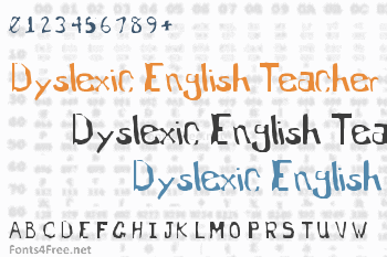 Dyslexic English Teacher Font