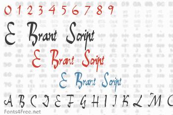 E-Brant Script Font