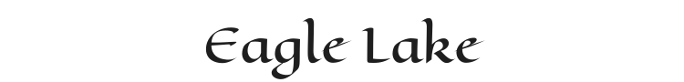 Eagle Lake Font Preview