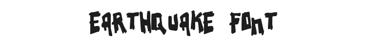 Earthquake Font Preview
