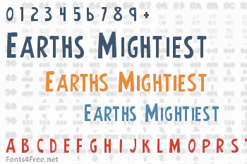Earths Mightiest Font