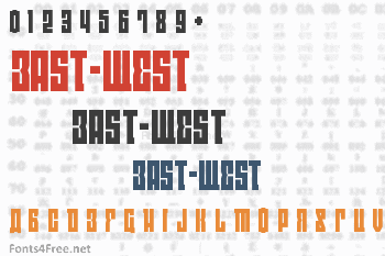 East-West Font