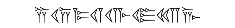 Easy Cuneiform Font