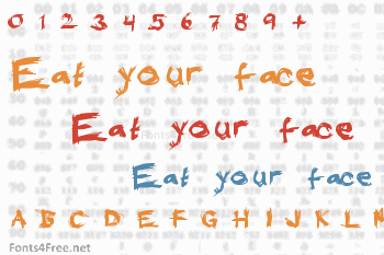 Eat your face Font