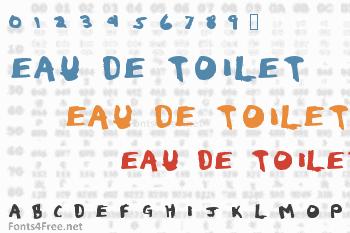 Eau de Toilet Font
