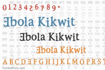 Ebola Kikwit Font