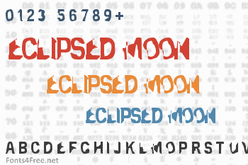 Eclipsed Moon Font