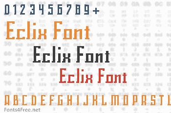 Eclix Font